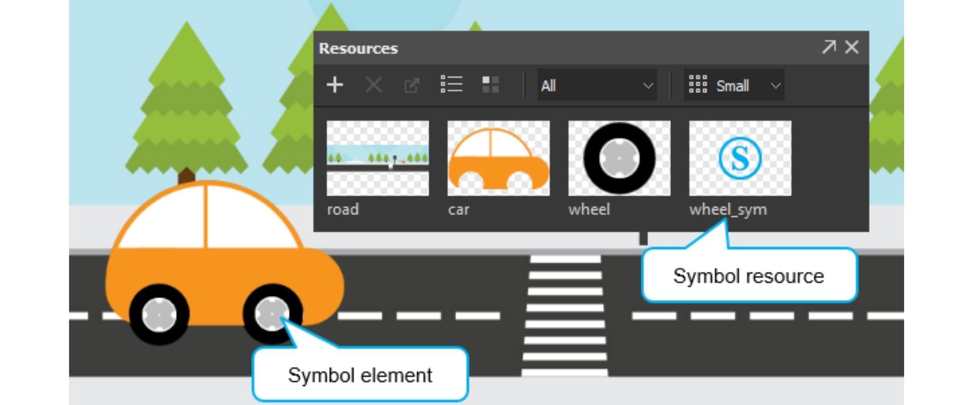 Symbol in animation