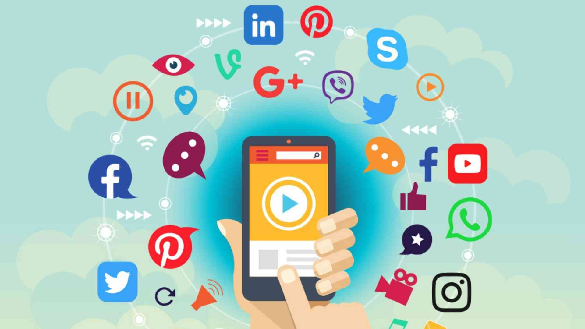 Animated picture about Social media