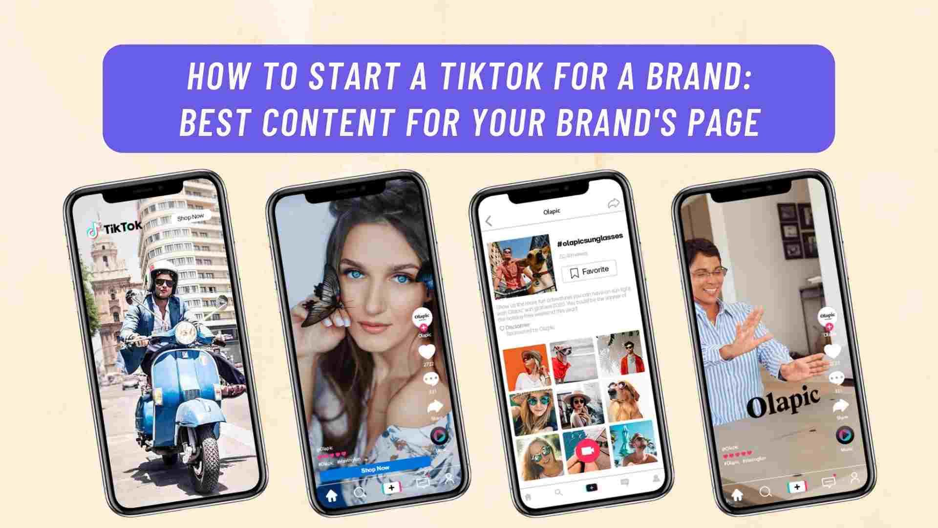Tiktok For A Brand Page