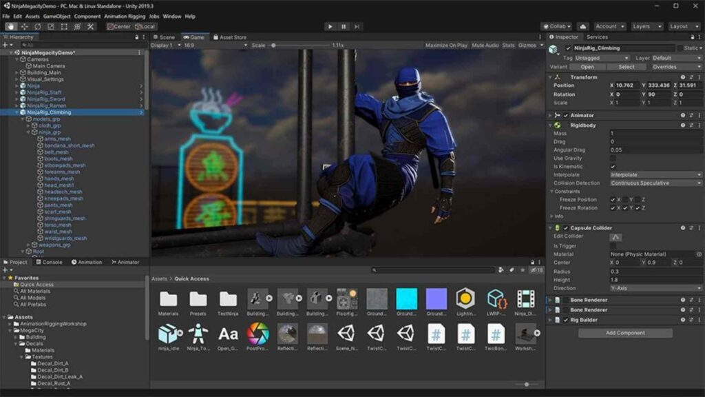 Unity game character