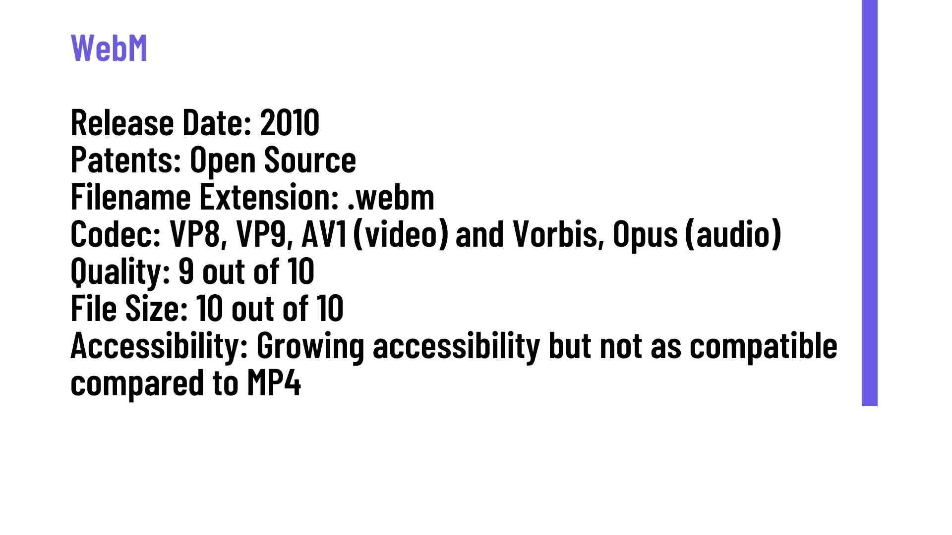 Advantages of WebM over MP4