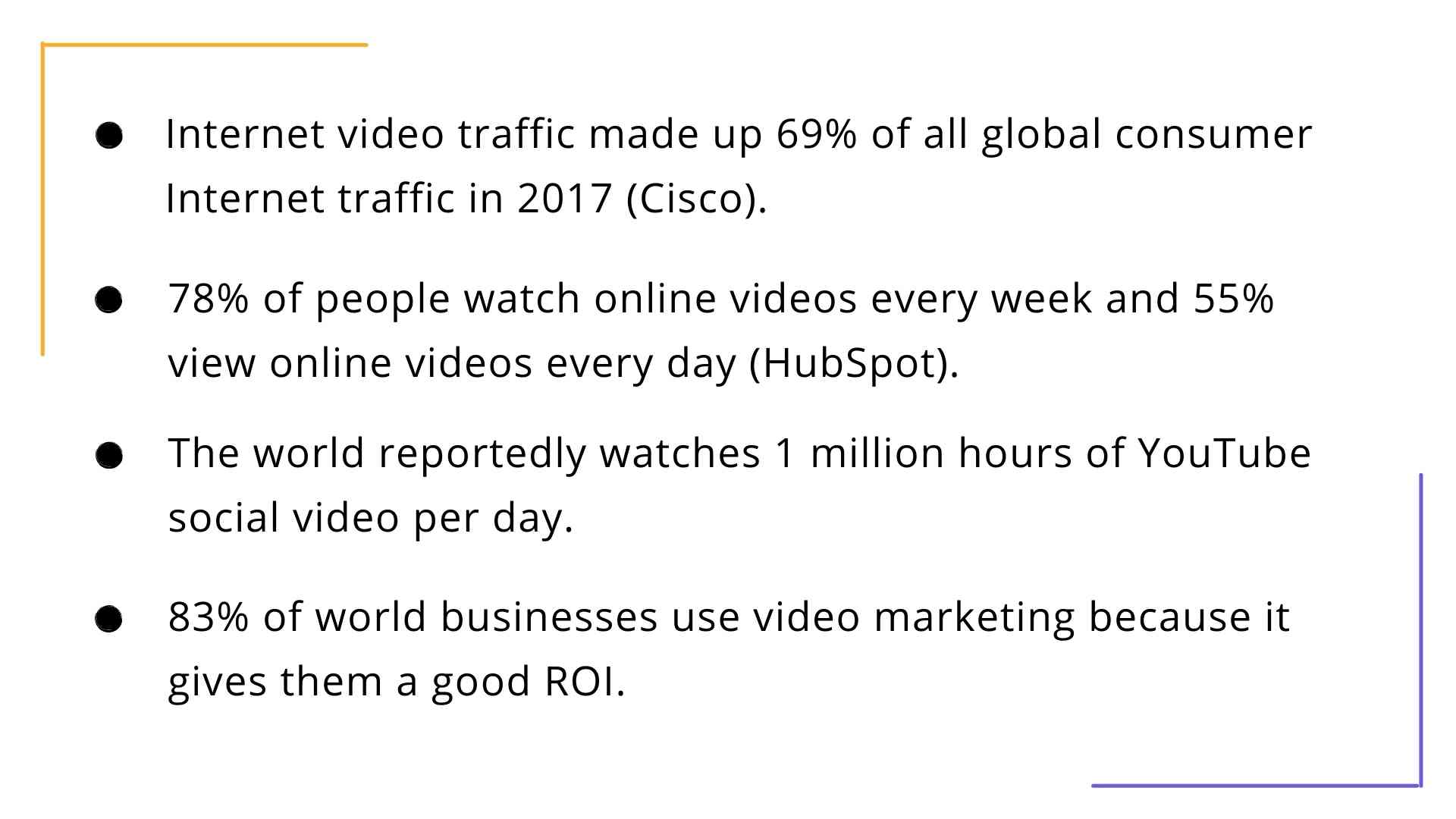 Video viewing statistics in the article about the video for the product